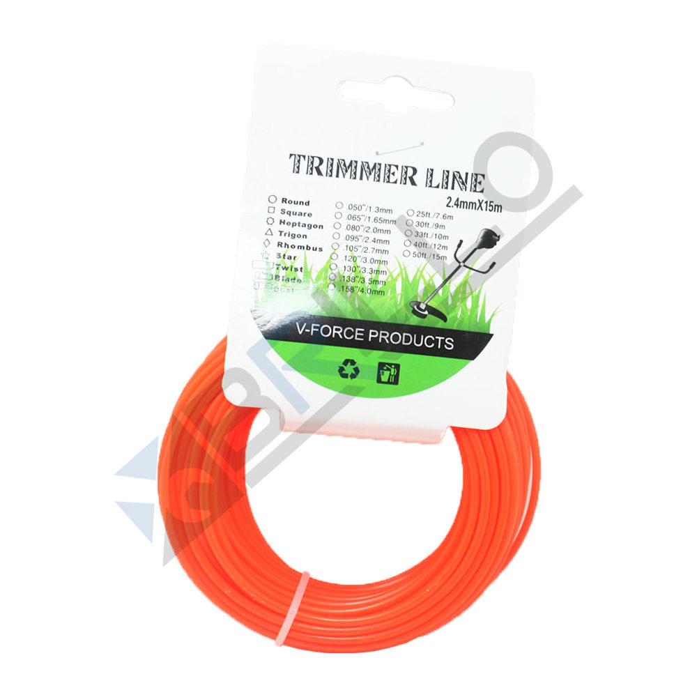 Fir trimmer motocoasa 2.4mm x 15m (rotund)