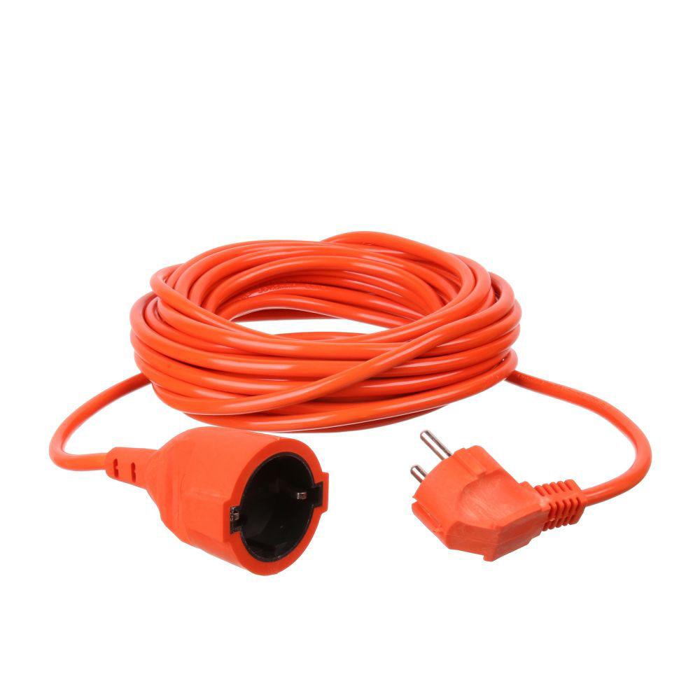 Prelungitor cu fir IP20 15m x1.5 mm 2300W portocaliu