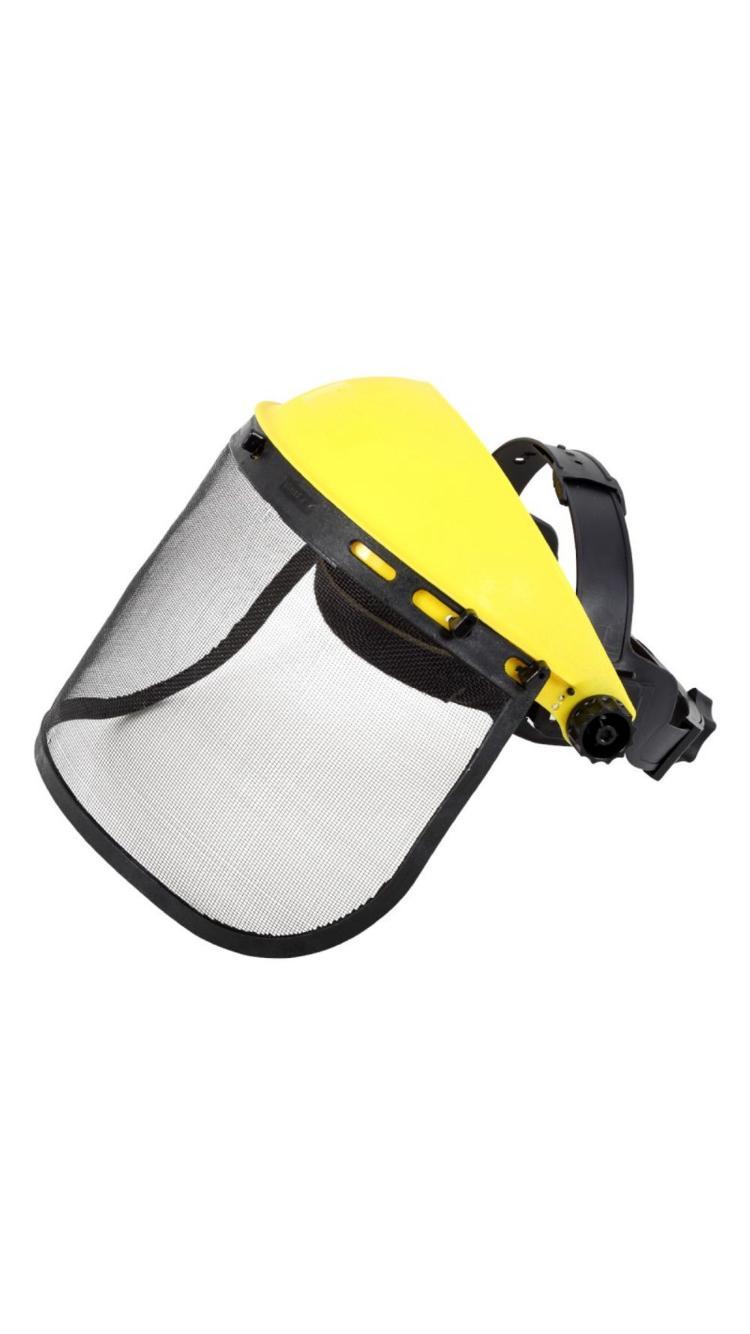 Masca de protectie cu viziera din plasa motocoasa