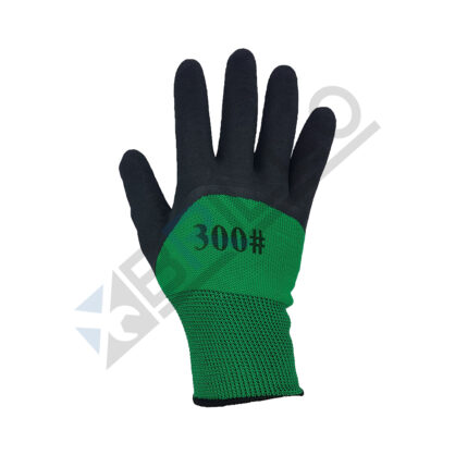 Manusi protectie, Poliester, Suprafata Anti-Aderenta, Verde/Negru