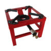 Arzator pe gaz Brillo din fonta si otel, 8 kW,Pirostrie cu 1 foc, rosu