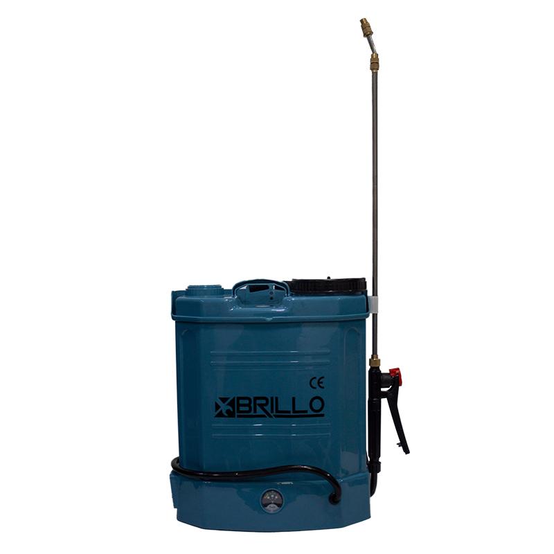 Pompa de stropit Brillo, cu baterie, cu manometru, 12 litri